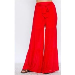 Flying Tomato Wide Leg Gauze Pants